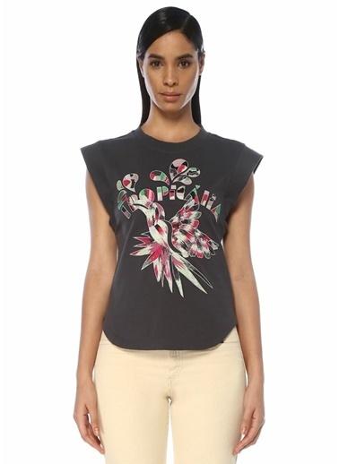 Etoile Isabel Marant Isabel Marant Seleno  Nakış Detaylı T-shirt 101507679 Lacivert